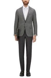 Hugo Boss Men's 'Roan1' Grey Slim Fit Wool Houndstooth Sport Coat Blazer 38R
