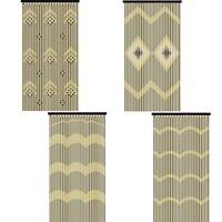JVL Provence Wooden Beaded Door Curtain Beautiful Hanging Wooden & Bamboo Beaded