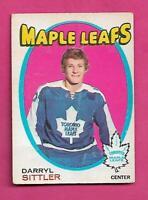 1971-72 OPC # 193 LEAFS DARRYL SITTLER  FAIR CARD  (INV# C7755)
