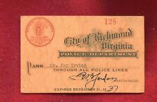 very Rare Vintage  CLEAN 1937 police lines   pba card to Cifford Irving father