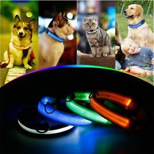 Anti-Lost Light Nylon Portable LED Dog Collar USB Charging Pet