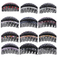 Girl Black Crystal Rhinestone Hair Clips Claws Comb Clamp Hair style Accessories