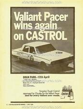 1970 VALIANT PACER LEO GEOGHEGAN CASTROL ORAN PARK A3 POSTER AD BROCHURE