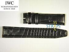 NEW ORIGINAL IWC WATCH STRAP 20MM BLACK ALLIGATOR LEATHER IWA11534