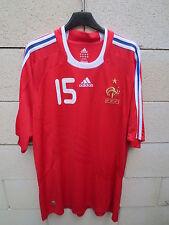 VINTAGE Maillot Equipe de FRANCE n°15 2008/09 ADIDAS rouge shirt trikot rare XL