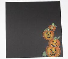 Halloween Pumpkin Scrapbook Page Scrapbooking  Creative PreMade Hand painted