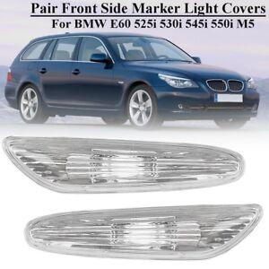 2PCs Front L+R Side Marker Lamp Fender Light For BMW E60 525i 530i 545i 550i