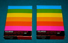 "Lot of 2 Sealed : POLAROID ""Polacolor Land Film"" COLORPACK FILM type 108"