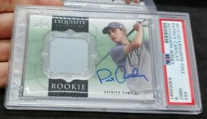 2014 Exquisite Golf Patrick Cantlay Rookie Card RC RPA Auto /175 PSA 9 Jersey