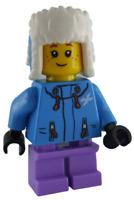 Lego Mädchen mit Wintermütze Winterjacke Kind Minifigur Figur City cty1080 Neu