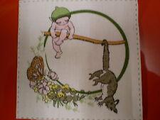 Sweet GUMNUT BABY with POSSUM Fabric Panel Patches ( 7.5cm x 7cm) #3