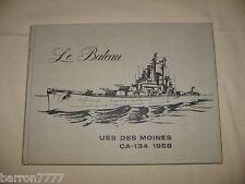 USS DES MOINES CA-134 1958 Mediterranean Deployment Navy Cruise Book