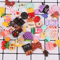 10/50 Pcs Fast Food Cake Sweets Ice Cream Charm Resin Toy DIY Phone Case Utility