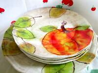 "Set of 4 9"" Melamine Pumpkin Waterfall Dinner Plates + 11"" Serving Platter"