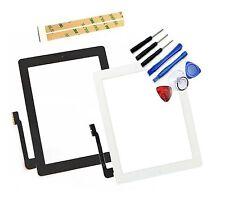 Vitre tactile iPad 4 Noir ou Blanc A1458 Wifi 3G + Bouton Nappe Home + Joint