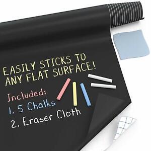 Large Chalkboard Wall Sticker (8 FT) Blackboard Paint Chalk Board Contact Paper