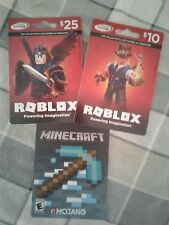 Minecraft Roblox gift card 🚫NO🚫VALUE🚫