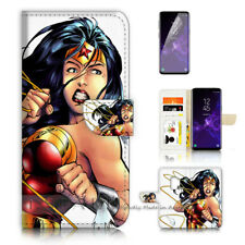 ( For Samsung S9 ) Wallet Case Cover P40537 Wonder Woman