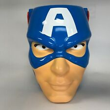 "CAPTAIN AMERICA Marvel Avengers EASTER Candy Basket / HALLOWEEN Bucket / Pail 8"""