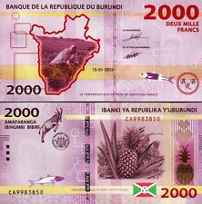 BURUNDI 2000 2,000 FRANCS 15-01-2015 UNCIRCULATED P.NEW