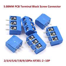 Tornillo de BLOQUE TERMINAL PCB 5.08MM conector 2 Pin 3 Pin 4 Pin 5/6/7 ~ 10Pin KF301-2P