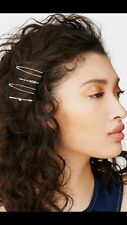 Free People NEW Hair Pin bobby pins clips arrows silver tone set of 4 NWT