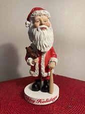 *New* Santa Claus Happy Holidays Head Nodderz Limited Edition 2002 BobbleHead