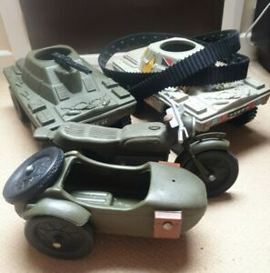 Vintage Cherilea Job lot armoured car bike  action man