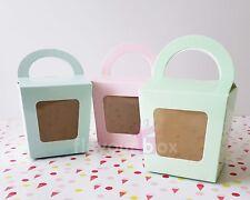30x Single Cupcake Boxes (GREEN) - Baby Shower Favour Box Wedding Bomboniere