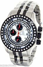 Men's Richard & co 1.00 CT Diamond Watch RC-3016 Stainless steel band white face