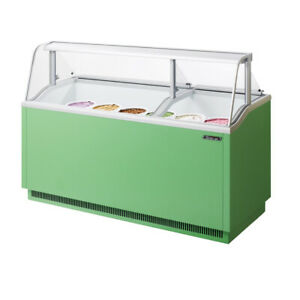 Turbo Air TIDC-70G-N 70-Inch W Ice Cream Dipping Cabinet, Green