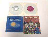 Vintage Lot Of 4 Children's 45 RPM Records Happy Birthday Humpty Dumpty +