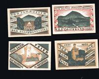 4x Notgeld 50 Pf 700 Jahre BAD SALZBRUNN  in Schlesien 1921