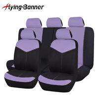 Universal Car Seat Covers Set Purple polyester Washable Fit for truck Suv Van