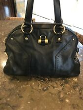 "Yves Saint Laurent Large Leather Handbag ""Muse"" YSL Made in Italy"