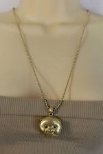 New Women Gold Metal Chains Japaness Fashion Long Necklace Pigy Face Pig Pendant