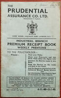 Prudential Assurance Co. Ltd. Industrial Branch Premium Receipt Book