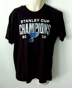 St Louis Blues T Shirt Size Large Stanley Cup Champions Team Signatures on Back