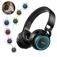 LED New Headset Wireless Hi-Fi Bass Stereo Foldable Headphones Earphones