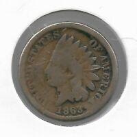 Rare Antique US 1863 Civil War Indian Head Penny Collection Cent Coin LOT:F25