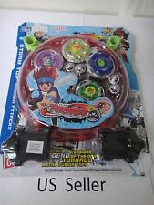 2 Bey with LED light Lian Fa Clash Tornado Metal Fusion Beyblade Speed Top Set