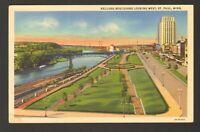 Unused Postcard Kellogg Boulevard looking West St Paul Minnesota MN