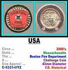 Challenge Coin • USA-MA • City of Boston Fire Dep't • Post 2000 • C•5321•