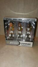 Forever Collectibles Mini Bobble heads Spurs 2003 NBA Champions