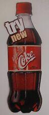 8 INCH TALL COCA-COLA PAPER VANILLA COKE ADVERTISING