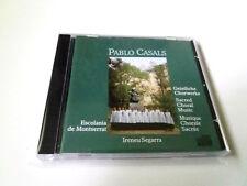 """PABLO CASALS """"SACRED CHORAL MUSIC ESCOLANIA DE MONTSERRAT"""" CD 9 TRACK COMO NUEVO"""