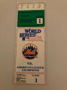 HISTORIC 1986 World Series Game 1 Ticket NY Mets Bosoton Red Sox Tom Seaver