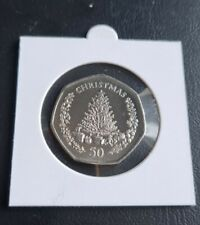 More details for 2006 gibraltar 50p fifty pence , christmas tree  ,scarce coin