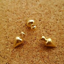 30pcs Cute 9mm Yellow Raw Brass Small Spike Bullet Charms Fashion Supplies Craft