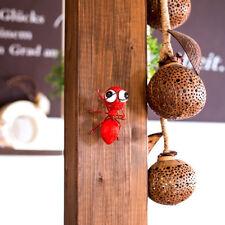 Dekofigur Ameise zum aufhängen, Gartenfigur, Metallfigur, Rot, Höhe ca. 10cm